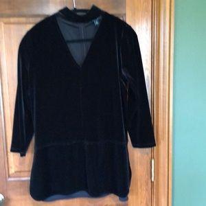 Ralph Lauren black blouse size 10